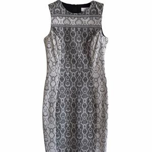 Badgley Mischka Belle Snake Print Sheath Dress 4